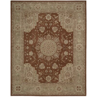 Lundeen Rust Area Rug Rug Size: 86 x 116