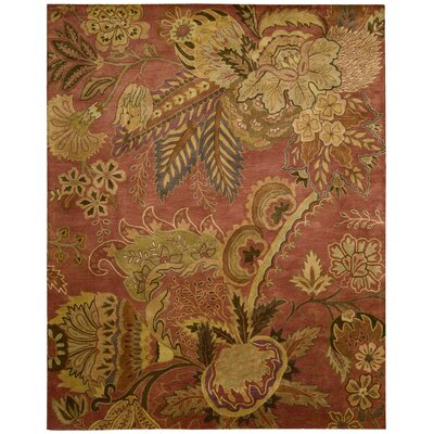 Morgan Hand-Woven Flame Red Area Rug Rug Size: Rectangle 96 x 136