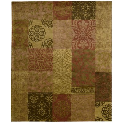 Morgan Green Multi Rug Rug Size: 96 x 136
