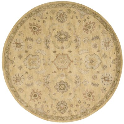 Fullmer Light Gold Area Rug Rug Size: Round 8