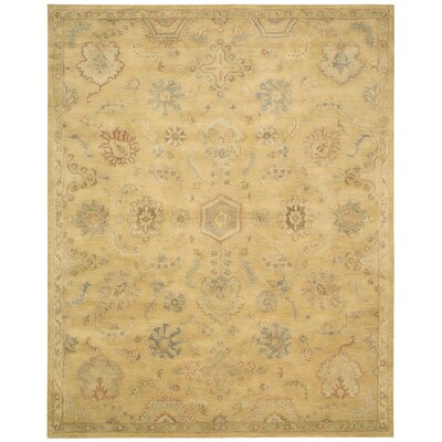 Fullmer Light Gold Area Rug Rug Size: 83 x 116