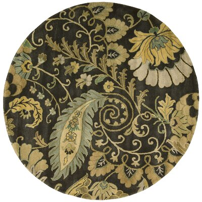 Fullmer Moss Area Rug Rug Size: Round 8