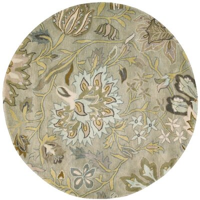 Fullmer Silver Area Rug Rug Size: Round 8