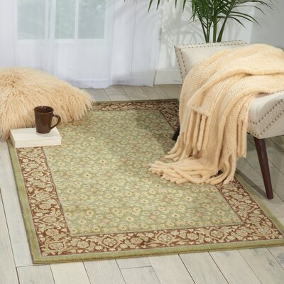 Stonekeep Green Area Rug Rug Size: Rectangle 53 x 75