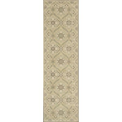 Berry Light Gold Area Rug Rug Size: Runner 23 x 8