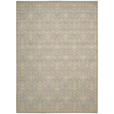 Lundon Blue/Tan Rug Rug Size: 36 x 56