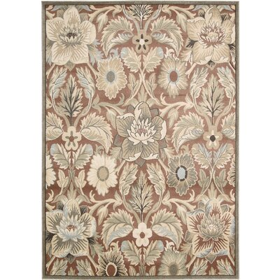 Moreton Brick Area Rug Rug Size: Rectangle 93 x 129
