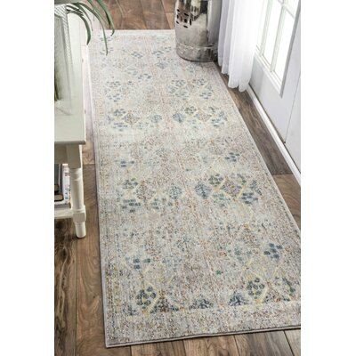Cole Gray Area Rug Rug Size: Runner 26 x 8