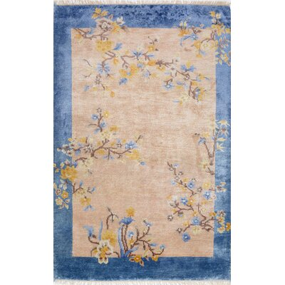 Christy Hand-Woven Beige Area Rug Rug Size: 76 x 96
