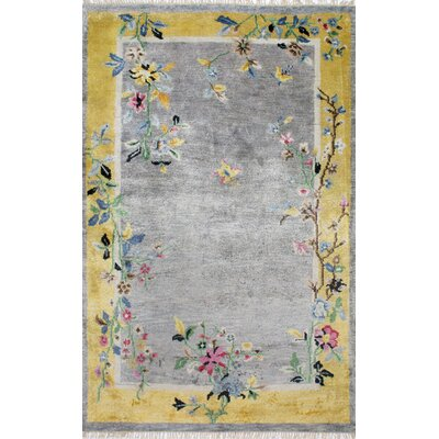 Madison Hand-Knotted Gray Area Rug Size: 7' 6