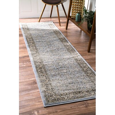 Kilraghts Blue Area Rug Rug Size: Runner 2'5