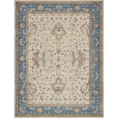 Shaws Beige Area Rug Rug Size: Rectangle 2 x 3