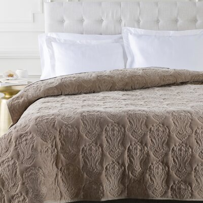 Norah Duvet Cover Color: Pewter, Size: Twin