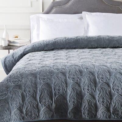 Norah Duvet Cover Color: Mink, Size: King