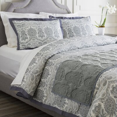Norah Bed Runner Color: Pewter