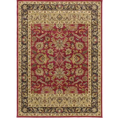 Russo Crimson/Pebble Area Rug Rug Size: 110 x 211
