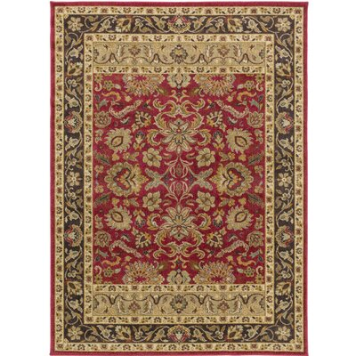 Russo Crimson/Pebble Area Rug Rug Size: Rectangle 710 x 910