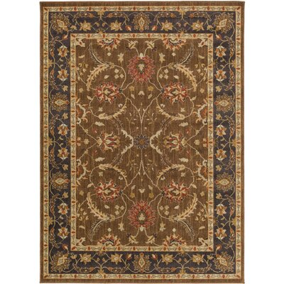 Russo Brown/Neutral Area Rug Rug Size: Rectangle 110 x 211