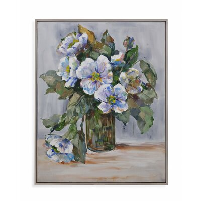 Elegant Flowers Framed Painting Print