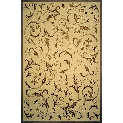Brightling Hand-Knotted Beige/Brown Area Rug