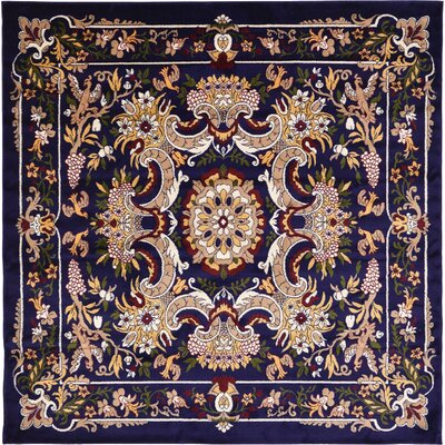Leal Navy Blue Area Rug Rug Size: Square 8'