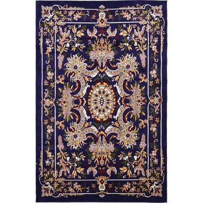 Leal Navy Blue Area Rug