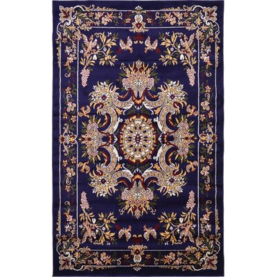 Aghanliss Navy Blue Area Rug