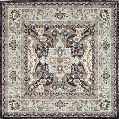 Sheppard Charcoal Area Rug Rug Size: Square 84