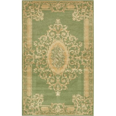 Moyer Light Green Area Rug Rug Size: 5' x 8'