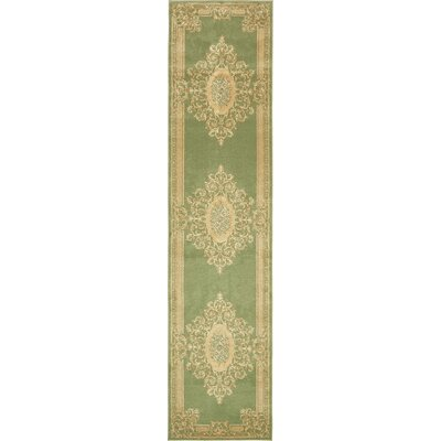 Moyer Light Green Area Rug Rug Size: Runner 3' x 13'