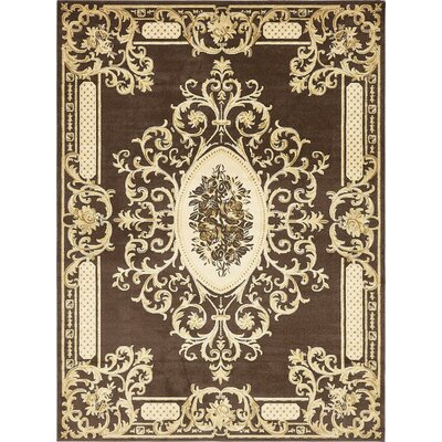 Levy Brown Area Rug Rug Size: Runner 3 x 13