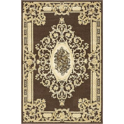 Levy Brown Area Rug Rug Size: 4 x 6