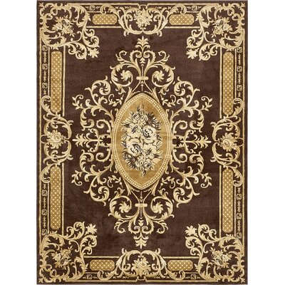 Cano Brown Area Rug Rug Size: 9 x 12