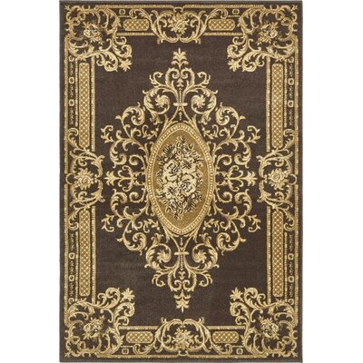 Cano Brown Area Rug Rug Size: 4 x 6