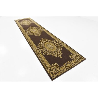 Cano Brown Area Rug Rug Size: Runner 3 x 13