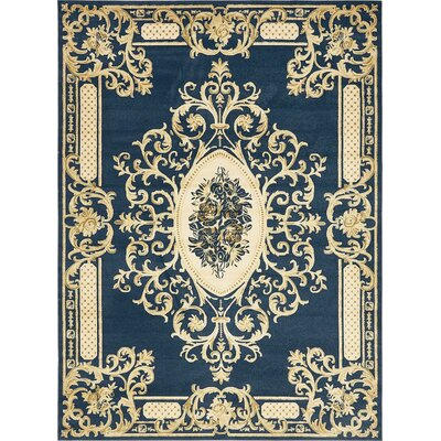 Friedman Navy Blue Area Rug Rug Size: 9' x 12'