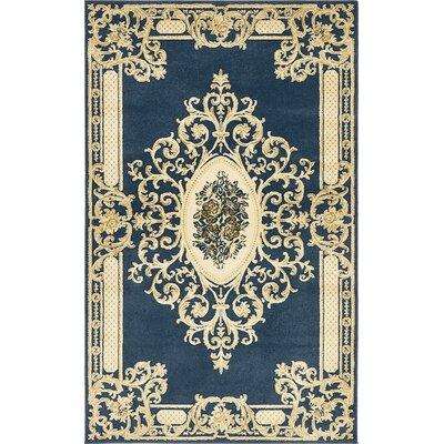 Friedman Navy Blue Area Rug Rug Size: 5 x 8
