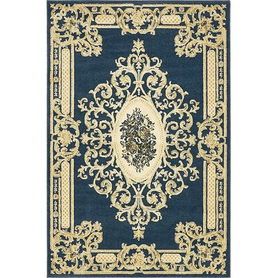 Friedman Navy Blue Area Rug