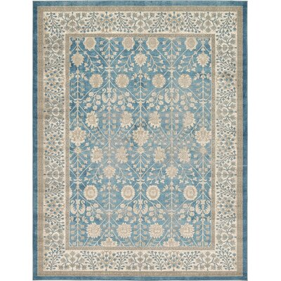 Kerensa�Light Blue Area Rug Rug Size: Rectangle 9 x 12