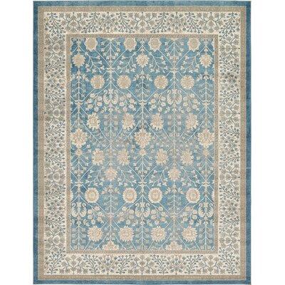 Kerensa�Light Blue Area Rug Rug Size: 33 x 53