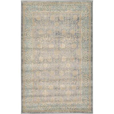 Kerensa�Gray Area Rug Rug Size: 33 x 53