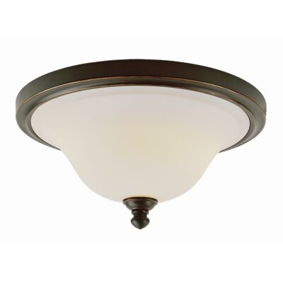 Melvina 2-Light Flush Mount Finish: Rubbed Oil Bronze
