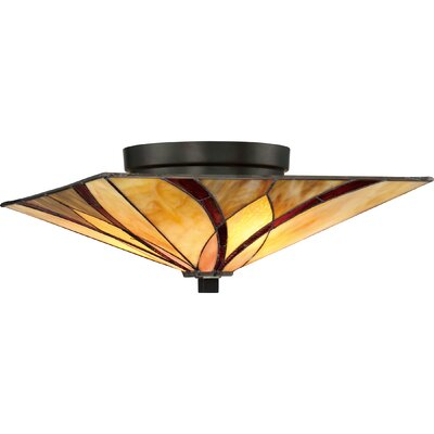 Maksian 2-Light Floating Flush Mount