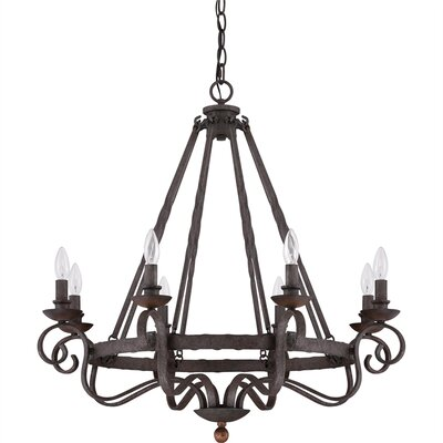 Allston 8-Light Candle-Style Chandelier