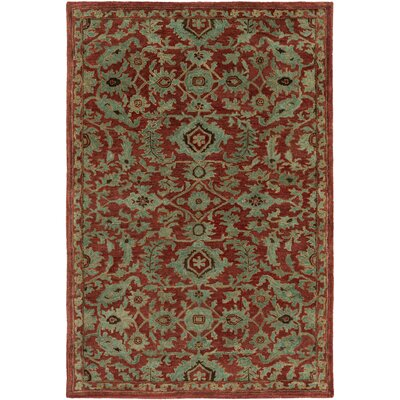 Nolan Hand-Tufted Dark Brown Area Rug Rug size: Rectangle 5 x 8