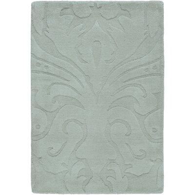 Rushden Hand-Loomed Light Gray Area Rug Rug size: 33 x 53