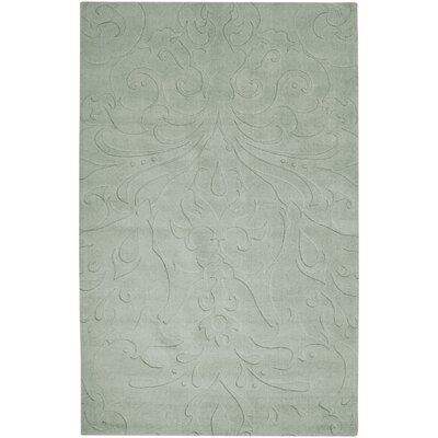 Rushden Hand-Loomed Light Gray Area Rug Rug size: 5 x 8