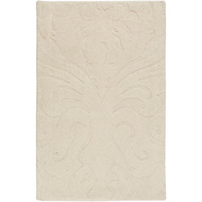 Rushden Hand-Loomed Khaki Area Rug Rug size: 9 x 13