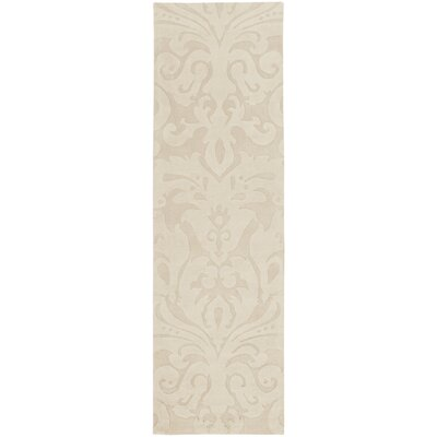 Ella Parchment Hand-Woven Area Rug Rug Size: Runner 26 x 8