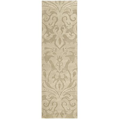 Rushden Hand-Loomed Wheat Area Rug Rug Size: Runner 26 x 8